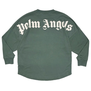 【Palm Angels】CLASSIC LOGO OVER TEE L/S PINE GREEN