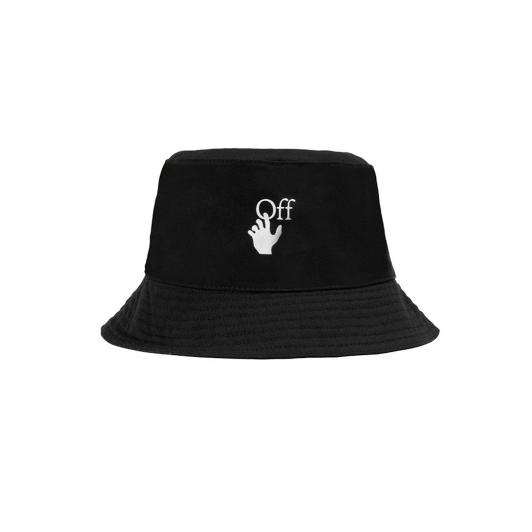 【Off-White】HAND OFF BUCKET HAT BLACK WHITE