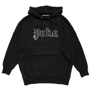 【Palm Angels】GLOW IN THE DARK OVER HOODY BLACK METAL