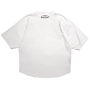 【Palm Angels】CLASSIC LOGO OVER TEE WHITE BLACK