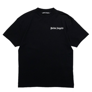 【Palm Angels】NEW BASIC TEE BLACK WHITE