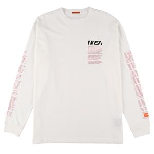 【HERON PRESTON】NASA OVER TSHIRT LS FACTS WHITE MULTICOL