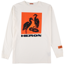 画像をギャラリービューアに読み込む, 【HERON PRESTON】REG TSHIRT LS NS HERONS TAPE OFF WHITE M