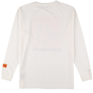【HERON PRESTON】REG TSHIRT LS NS HERONS TAPE OFF WHITE M