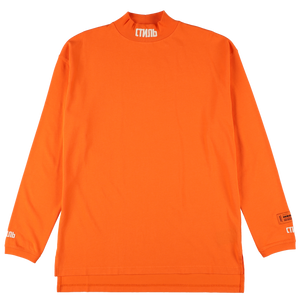 【HERON PRESTON】TURTLENECK CTNMB ORANGE WHITE