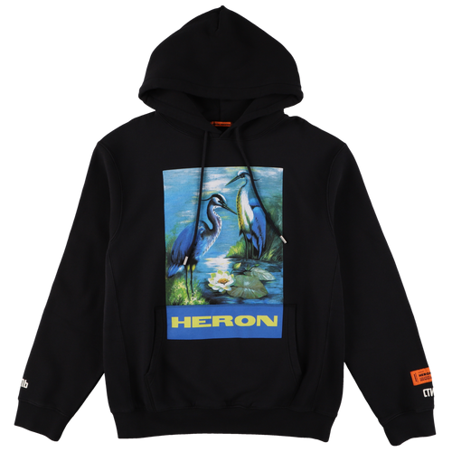 【HERON PRESTON】HOODIE PERMANENT OFF BLACK MULTICOLOR