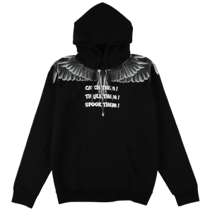 【MARCELO BURLON】CATCH THEM WINGS HOODIE BLACK MULTICOLOR