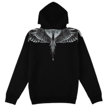 画像をギャラリービューアに読み込む, 【MARCELO BURLON】CATCH THEM WINGS HOODIE BLACK MULTICOLOR