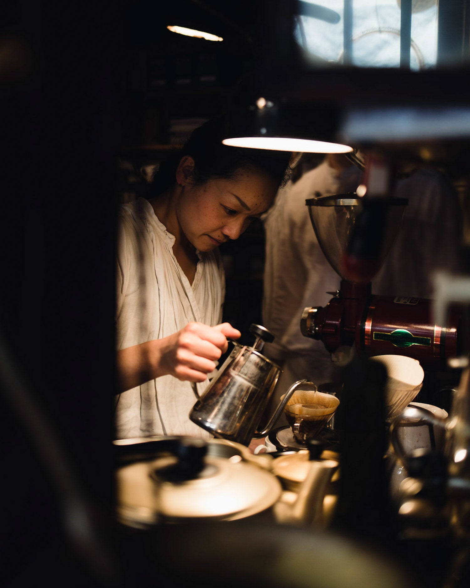 Pour over coffee at wife and husband cafe in kyoto