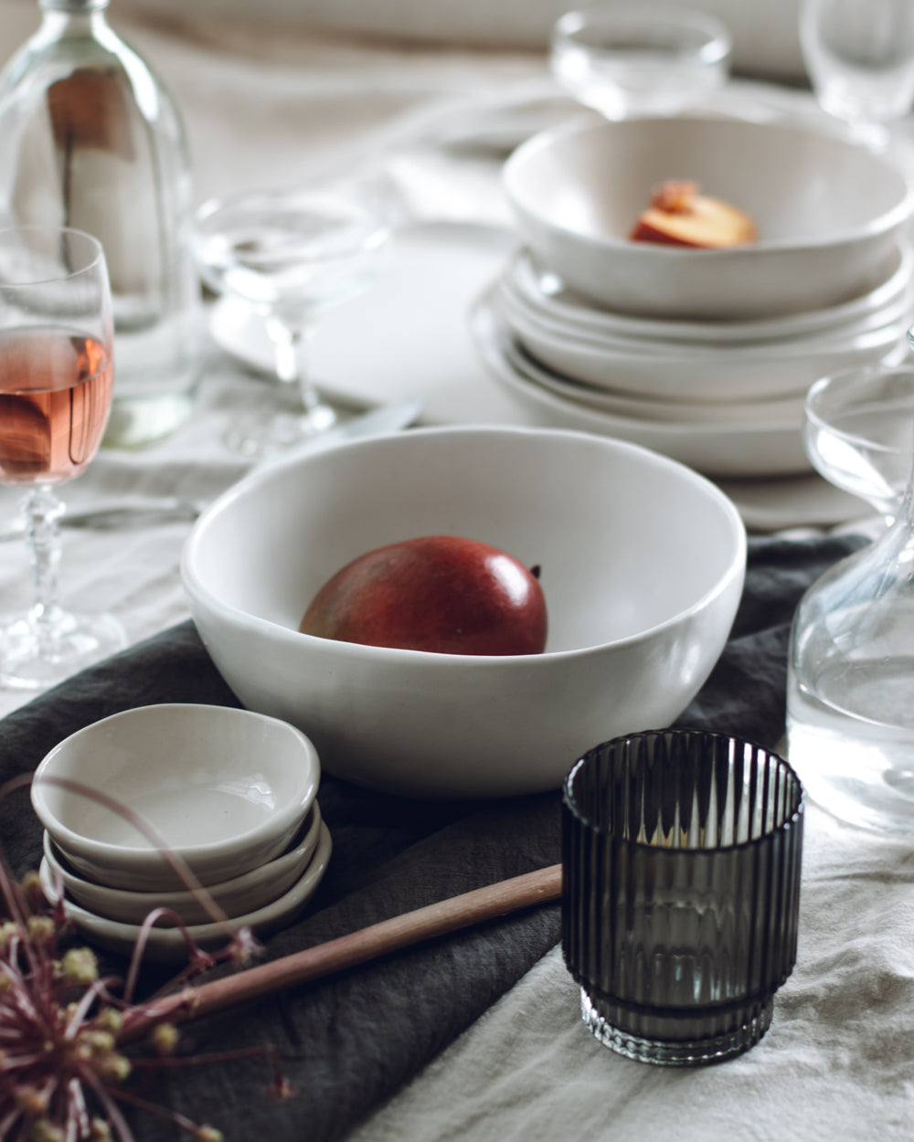 Festive table set with Winterwares ceramics