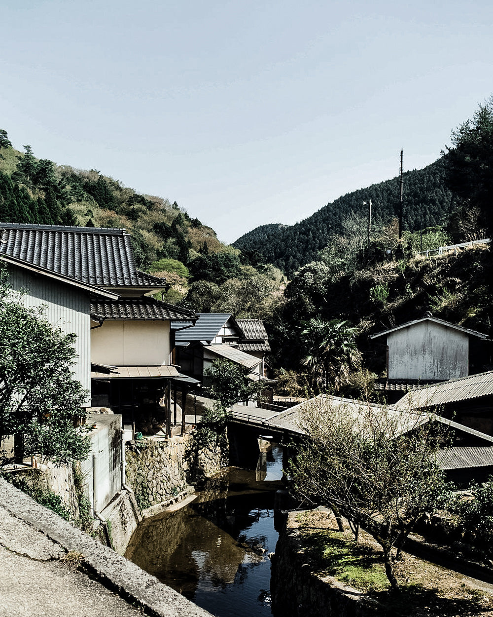 Onta pottery village in Japan