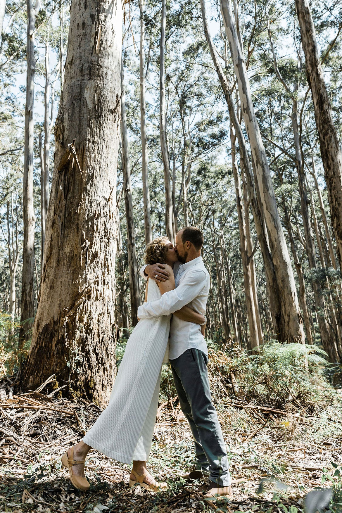 Wild Goose Camping wedding in the forest, Clint and Chloe