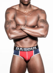RALPHAEL MICROFIBER SPORT BRIEF (NAVY BAND)