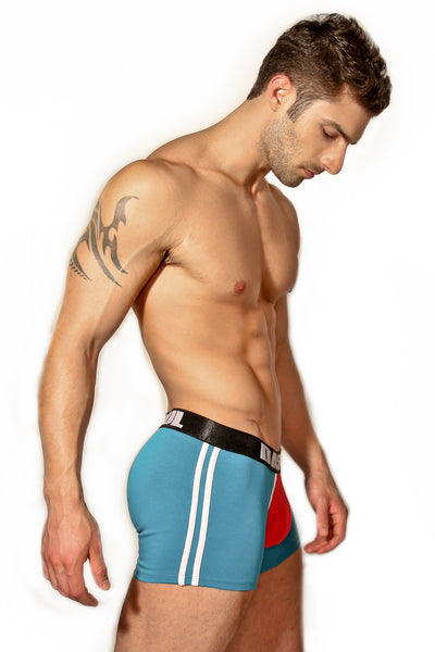 TYLER TEAL/RED BOXER BRIEF