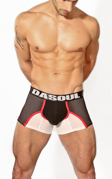 ADAM WHITE/BLACK BOXER BRIEF