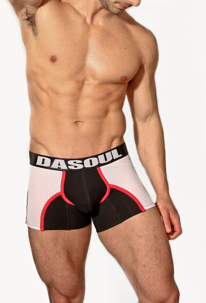 LUIS BLACK/WHITE BOXER BRIEF