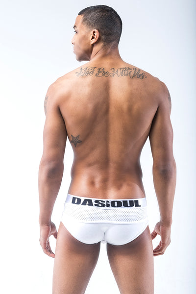 WHITE-OUT MESH BRIEF