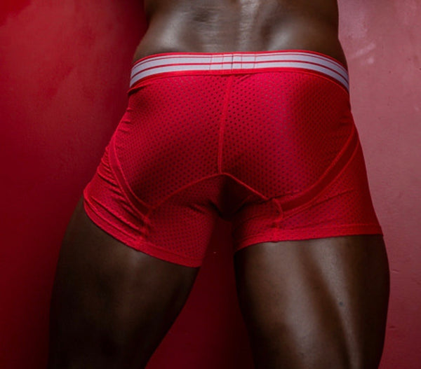 CRIMSON MESH BOXER BRIEF