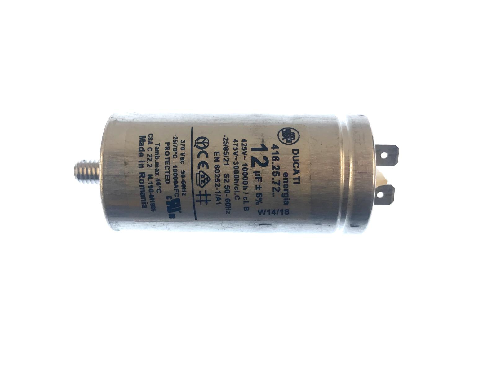 Polypropylene Capacitor Ducati 12uF For Hoover DX H9A2TCEX-S 416.25.72