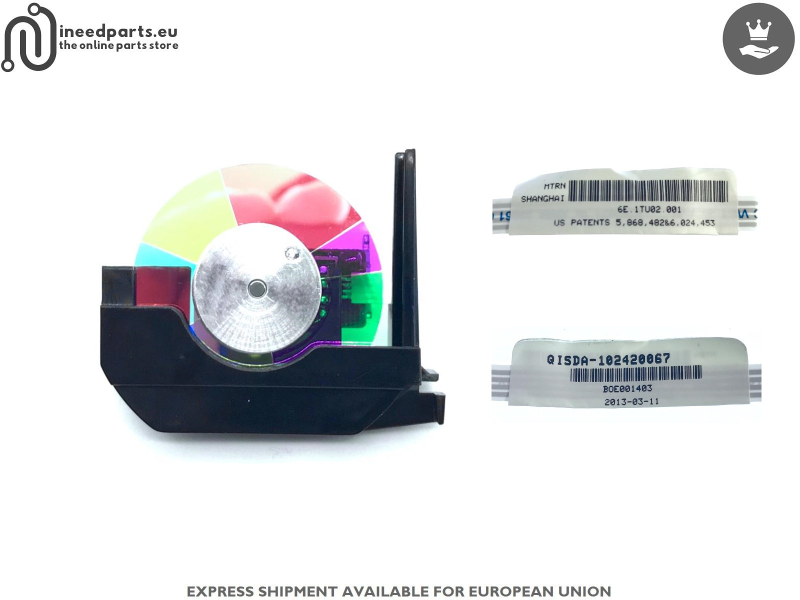 Color Wheel BOE001403 6E.1TU02.001 QISDA-102420067 BenQ W750