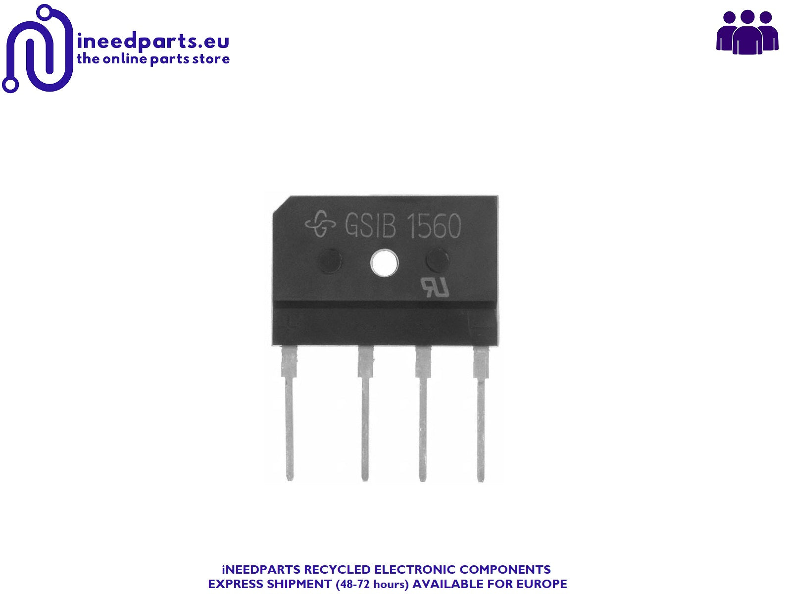 30 x GSIB 1560 15A 600V Bridge Rectifier