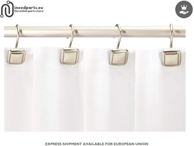 Shower Curtain Hooks Square Nickel Design