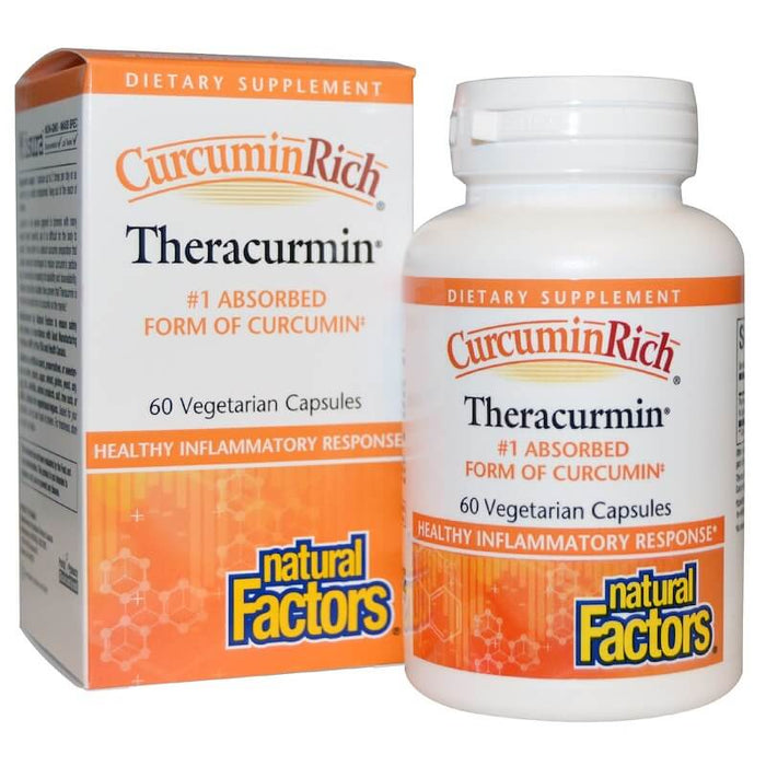 Natural Factors - CurcuminRich, Theracurmin, 60 Veggie Capsules