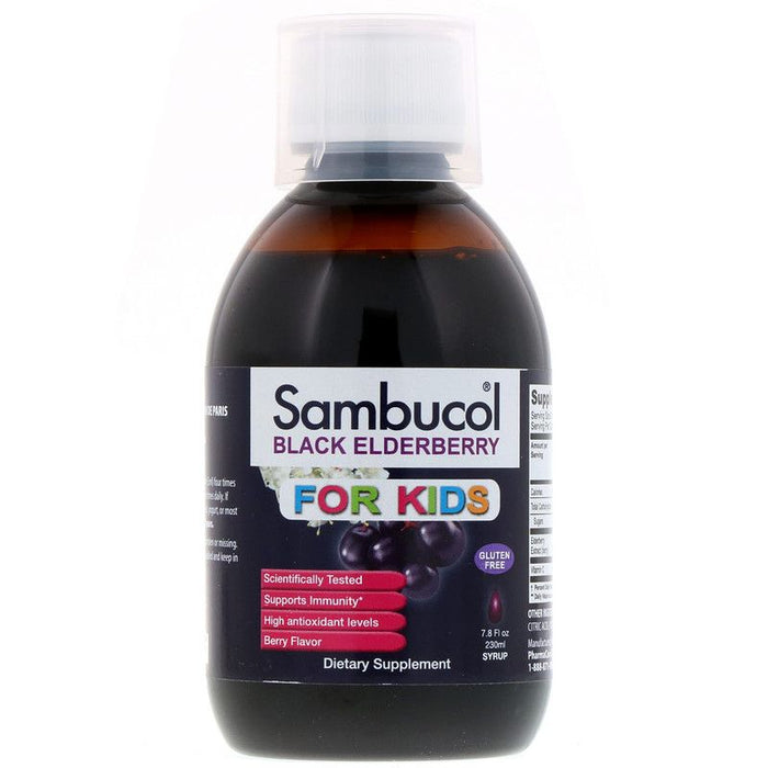 Sambucol - Black Elderberry Syrup, For Kids, Berry Flavor, 7.8 fl oz (230 ml)