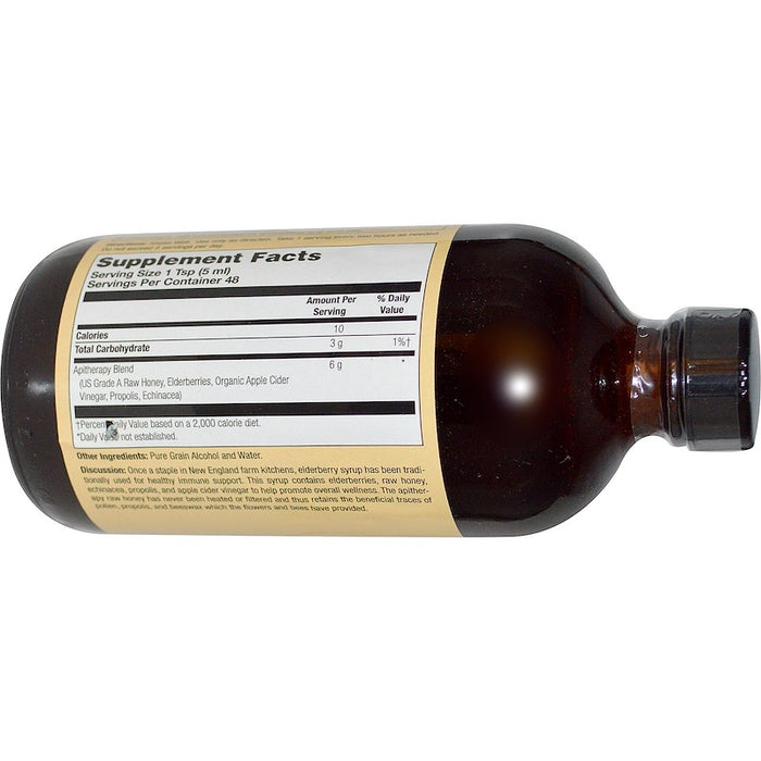 Honey Gardens - Elderyberry Syrup with Apitherapy Raw Honey, Propolis and Elderberries, 8 fl oz (240 ml)