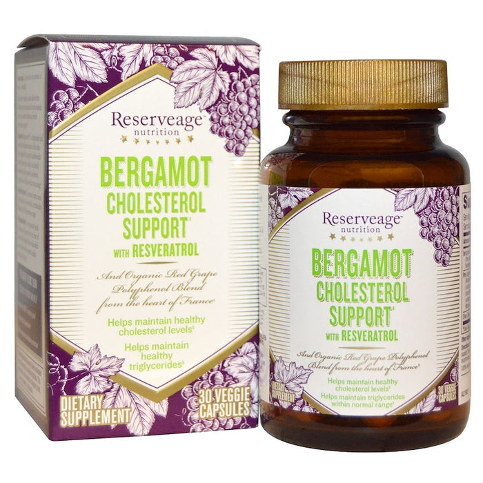 ReserveAge Nutrition - Bergamot Cholesterol Support with Resveratrol, 30 Veggie Caps