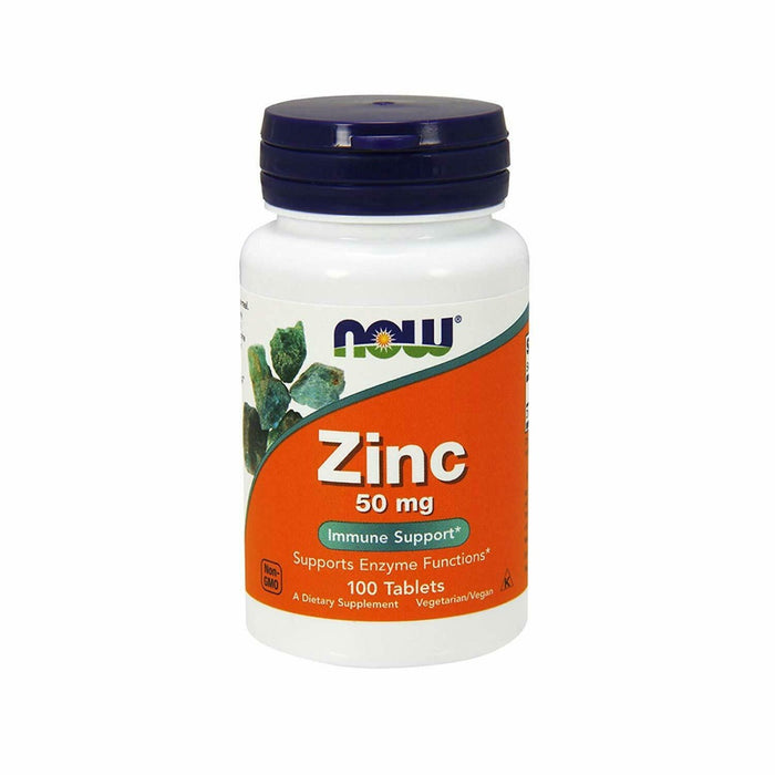 Now Foods - Zinc 50 mg, 100 Tablets