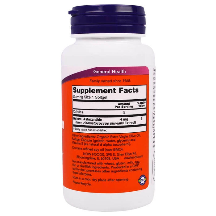 Now Foods - Astaxanthin, 4 mg, 90 Softgels