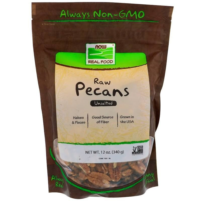 Now Foods - Raw Pecans, Unsalted, 12 oz (340 g)