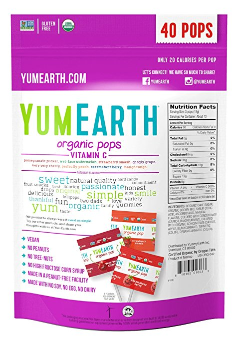 Yummy Earth Organics Vitamin C Pops 8.5 oz