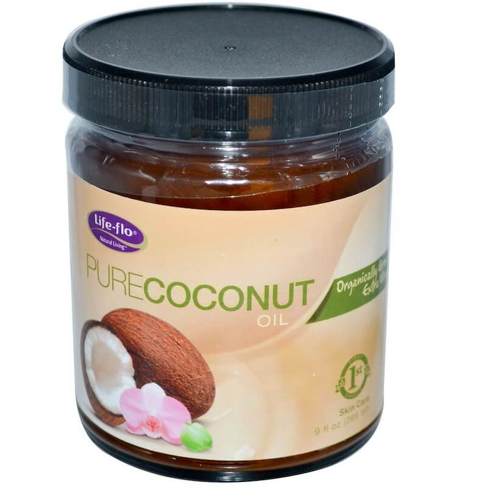 Life-flo Health Organic, Pure Coconut Oil, Skin Care, 9 fl oz (266 ml)