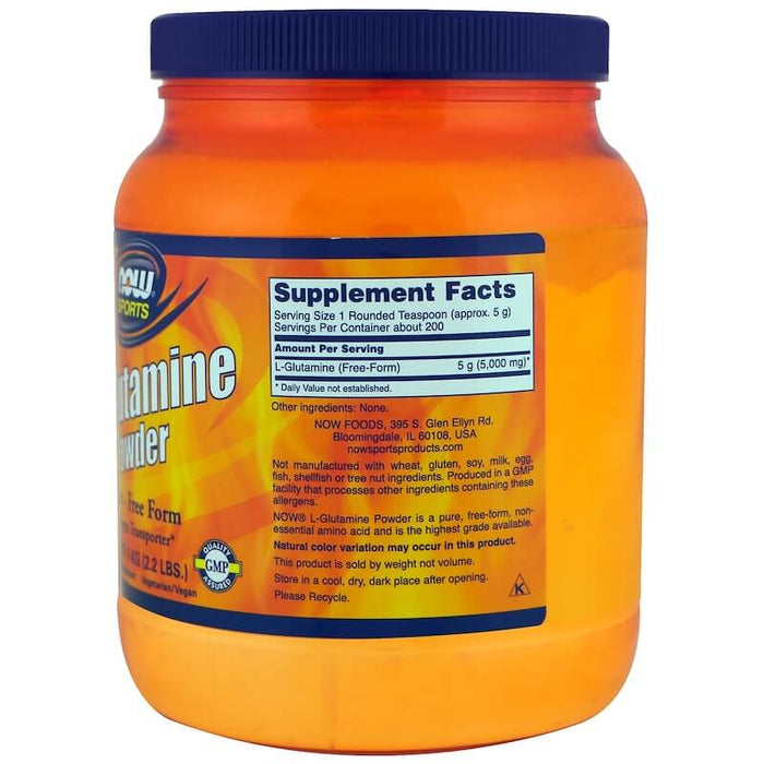 Now Foods - Sports, L-Glutamine Powder, 2.2 lbs (1 kg)
