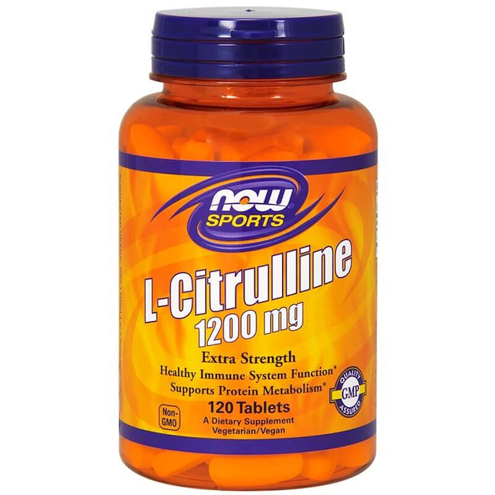 Now Foods - L-Citrulline, Extra Strength, 1,200 mg, 120 Tablets