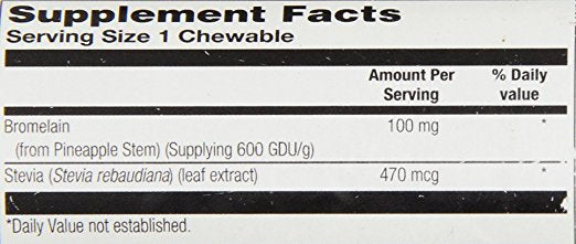 KAL - Bromelain Chewable, Tropical Flavor, 100 Chewable (100 mg)