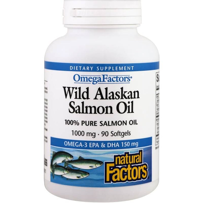 Natural Factors - Wild Alaskan Salmon Oil, 1000 mg, 90 Softgels