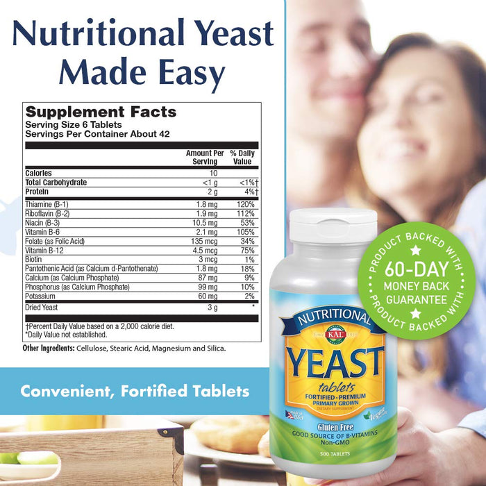 KAL - Nutritional Yeast, 500 Tablets