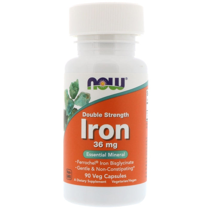 Now Foods - Iron, Double Strength, 36 mg, 90 Veg Capsules