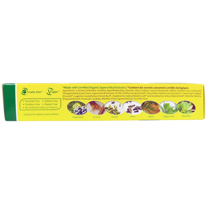 Organix South - TheraNeem Naturals, Neem Therap?? with Mint, Neem Toothpaste, 4.23 oz (120 g)