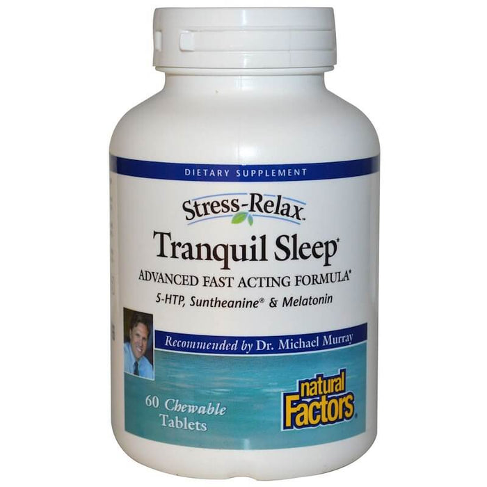 Natural Factors - Stress-Relax, Tranquil Sleep, 60 Chewable Tablets