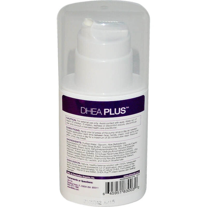 Life-flo Health - DHEA Plus, Highly Absorbent Body Cream, 2 oz (57 g)