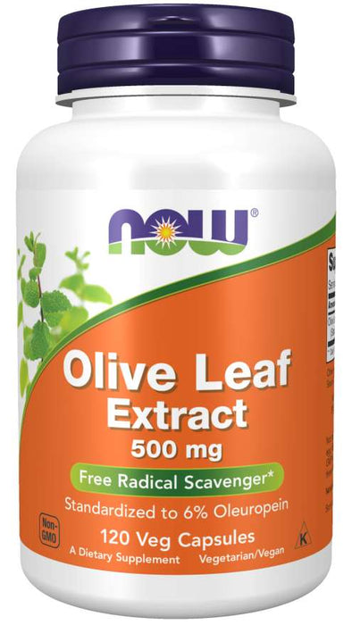 Now Foods Olive Leaf Extract 500 mg, 120 Vcaps