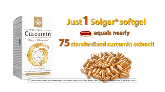 Solgar Full Spectrum Curcumin, 30 Softgels