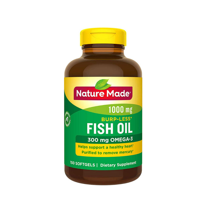 Nature Made Fish Oil Omega-3 1000 mg, 150 Liquid Softgels
