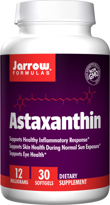 Jarrow Formulas Astaxanthin 12 mg, 30 Softgels