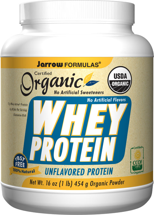 Jarrow Formulas Organic Whey Protein Unflavored, 454 GM