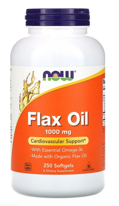 Now Foods - Flax Oil with Essential Omega-3's, 1,000 mg, 250 Softgels